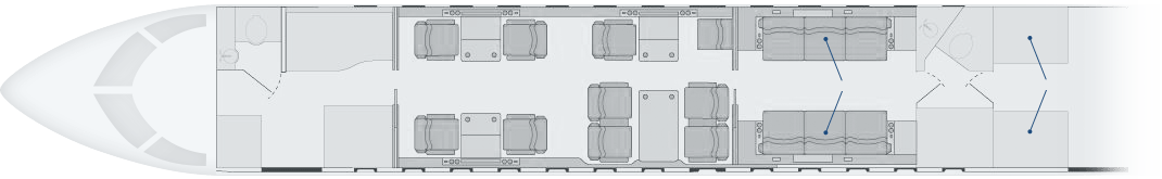 MHIRJ specifications of a CRJ Series aircraft with 16 passenger seats